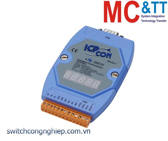I-7521D CR: Bộ chuyển đổi tín hiệu RS-485 sang RS-232/RS-485 với 2 DI +3 DO ICP DAS