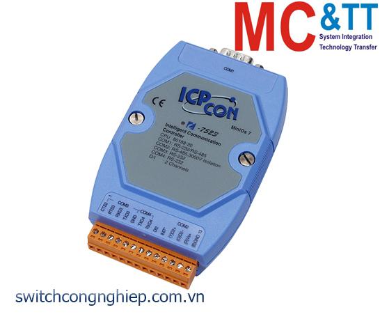 I-7523 CR: Bộ chuyển đổi tín hiệu RS-485 sang 3 cổng RS-232/RS-485 với 1 DI ICP DAS