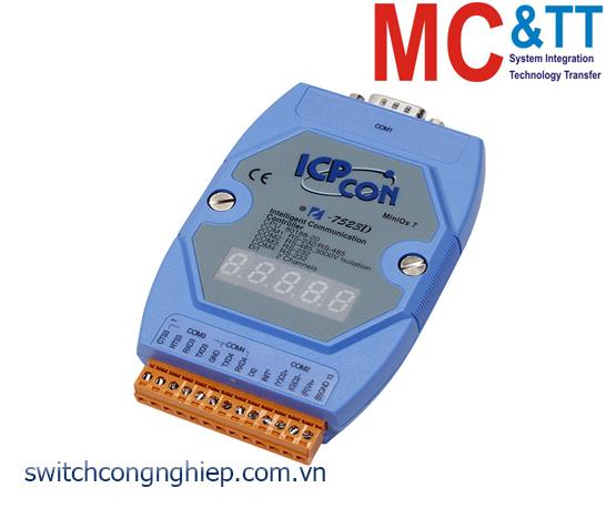I-7523D CR: Bộ chuyển đổi tín hiệu RS-485 sang 3 cổng RS-232/RS-485 với 1 DI ICP DAS