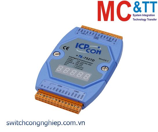 I-7527D CR: Bộ chuyển đổi tín hiệu RS-485 sang 7 cổng RS-232/RS-485 với 1 DI+1 DO ICP DAS