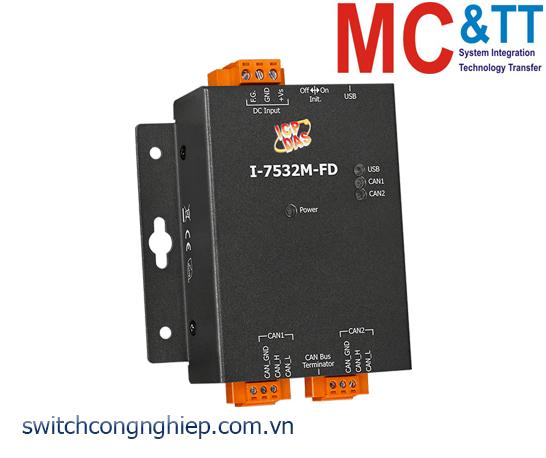 I-7532M-FD CR: Bộ chuyển đổi tín hiệu 2 kênh CAN/CAN FD ICP DAS