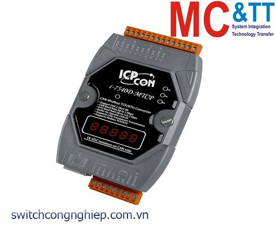 I-7540D-MTCP-G CR: Bộ chuyển đổi tín hiệu CAN sang Ethernet/Modbus ICP DAS