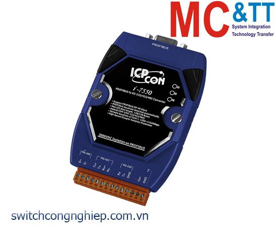 I-7550-B CR: Bộ chuyển đổi tín hiệu PROFIBUS sang RS-232/422/485 ICP DAS