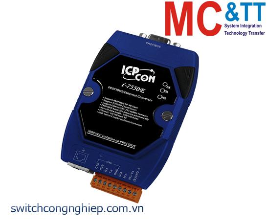 I-7550E: Bộ chuyển đổi tín hiệu PROFIBUS sang Ethernet ICP DAS