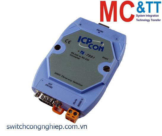 I-7551 CR: Bộ chuyển đổi tín hiệu RS-232 cách ly sang RS-232 ICP DAS