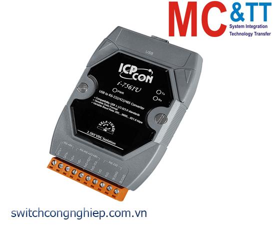 I-7561U-G CR: Bộ chuyển đổi tín hiệu USB sang RS-232/422/485 cách ly tốc độ cao ICP DAS