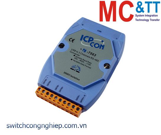 I-7563 CR: Bộ chuyển đổi tín hiệu USB sang RS-485 ICP DAS