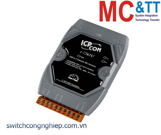 I-7563U-G: Bộ chuyển đổi tín hiệu USB sang RS-485 ICP DAS