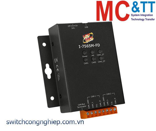 I-7565M-FD: Bộ chuyển đổi tín hiệu USB sang 2 cổng CAN/CAN FD Bus ICP DAS