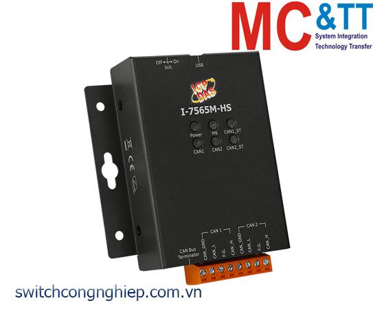 I-7565M-HS CR: Bộ chuyển đổi tín hiệu USB sang 2 cổng CAN bus ICP DAS