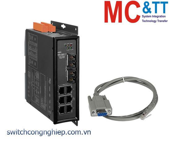 MSM-508FC-T CR: Bộ chuyển mạch công nghiệp 8 cổng Ethernet với 2 cổng quang Multi-mode SC ICP DAS
