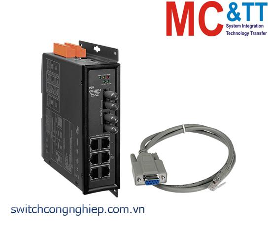 MSM-508FT-T CR: Bộ chuyển mạch công nghiệp 8 cổng Ethernet với 2 cổng quang Multi-mode ST ICP DAS