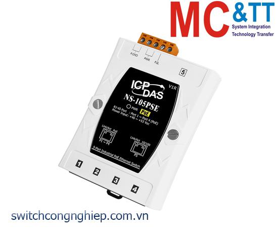NS-105PSE CR: Bộ chuyển mạch công nghiệp 5 cổng Ethernet PoE (PSE) ICP DAS