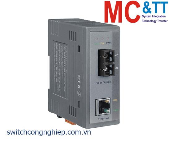 NS-200AFCS-T CR: Bộ chuyển đổi tín hiệu Ethernet sang quang (Single mode- SC) ICP DAS