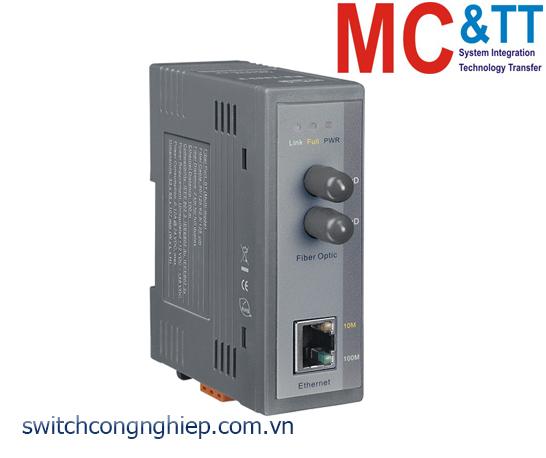 NS-200AFT-T CR: Bộ chuyển đổi tín hiệu Ethernet sang quang (Multi mode, ST) ICP DAS