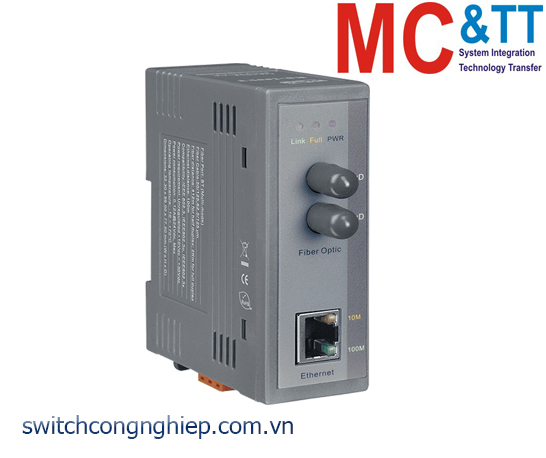 NS-200FT CR: Bộ chuyển đổi tín hiệu Ethernet sang quang (Multi mode, ST) ICP DAS