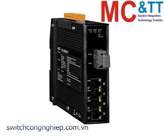 NS-205AFC-T CR: Bộ chuyển mạch công nghiệp 4 cổng Ethernet 1 cổng quang Multi mode SC ICP DAS