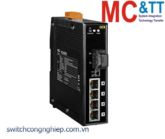 NS-205PFC CR: Bộ chuyển mạch công nghiệp 4 cổng PoE (PSE)+1 cổng quang Multi mode SC ICP DAS