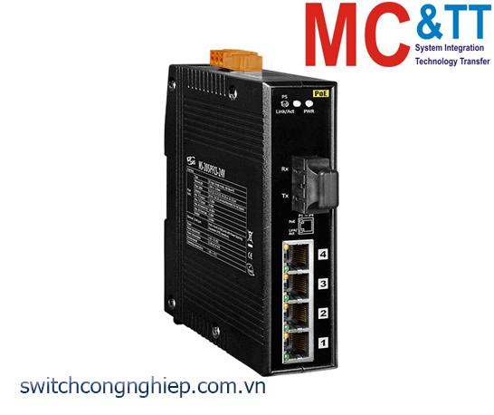 NS-205PFCS-24V CR: Bộ chuyển mạch công nghiệp 4 cổng PoE (PSE)+1 cổng quang Single mode SC 30KM +24 VDC ICP DAS