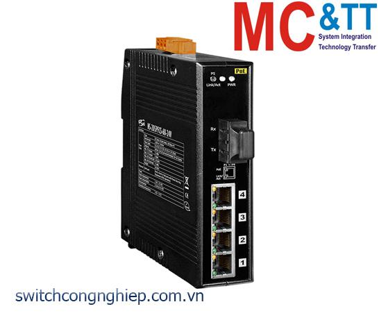 NS-205PFCS-60-24V CR: Bộ chuyển mạch công nghiệp 4 cổng PoE (PSE)+1 cổng quang Single mode SC 60KM +24 VDC ICP DAS