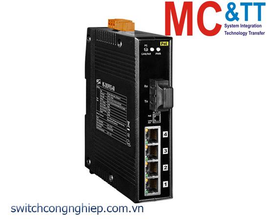 NS-205PFCS-60 CR: Bộ chuyển mạch công nghiệp 4 cổng PoE (PSE)+1 cổng quang Single mode SC 60km ICP DAS