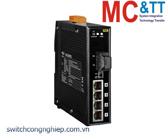 NS-205PFCS CR: Bộ chuyển mạch công nghiệp 4 cổng PoE (PSE)+1 cổng quang Single mode SC 30km ICP DAS