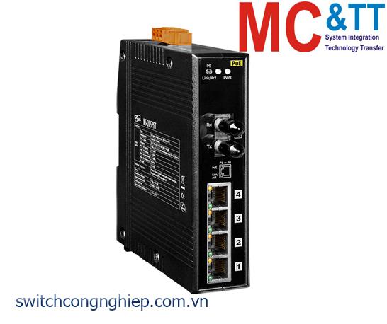 NS-205PFT CR: Bộ chuyển mạch công nghiệp 4 cổng PoE (PSE)+1 cổng quang Multi mode ST ICP DAS
