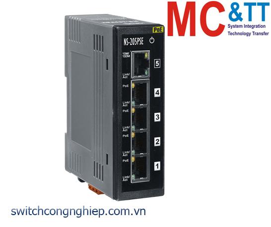 NS-205PSE CR: Bộ chuyển mạch công nghiệp 5 cổng Ethernet PoE (PSE) ICP DAS