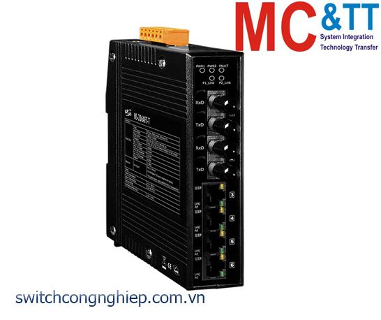 NS-206AFT-T CR: Bộ chuyển mạch công nghiệp 4 cổng Ethernet 2 cổng quang Multi mode ST ICP DAS