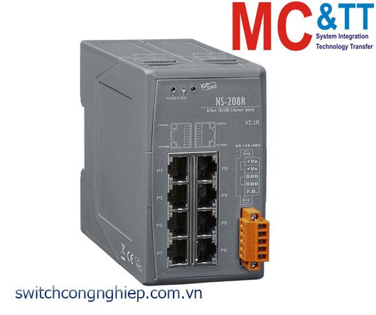 NS-208R CR: Bộ chuyển mạch công nghiệp 8 cổng Ethernet ICP DAS