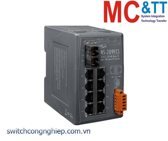 NS-209FCS CR: Bộ chuyển mạch công nghiệp 8 cổng Ethernet 1 cổng quang Single mode SC 30km ICP DAS