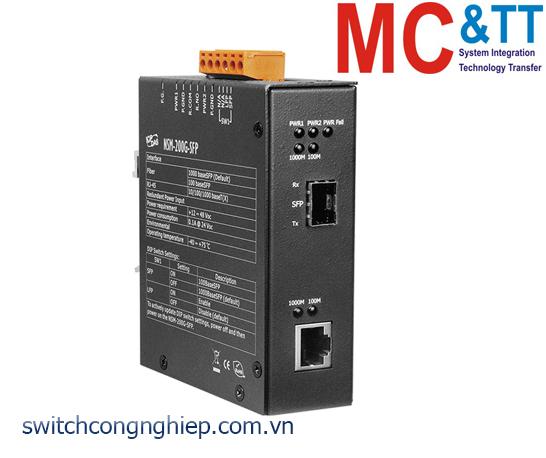 NSM-200G-SFP: Bộ chuyển đổi quang điện 1 cổng SFP ICP DAS