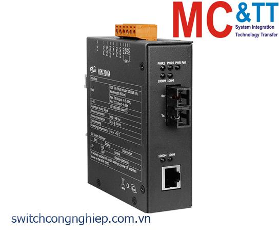 NSM-200SX CR: Bộ chuyển đổi tín hiệu Gigabit Ethernet sang quang (Multi mode 850nm SC) ICP DAS