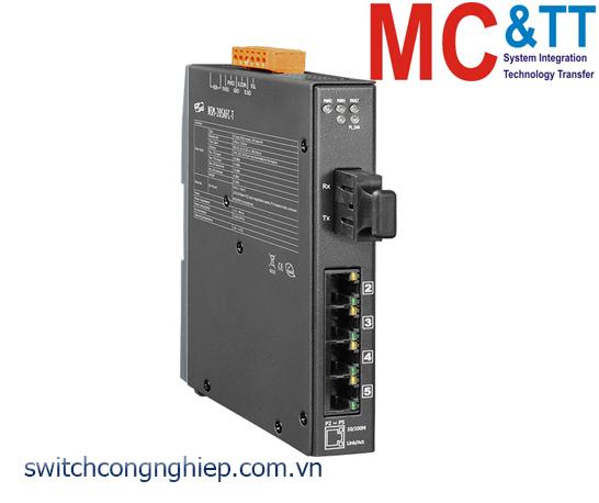 NSM-205AFC-T CR: Bộ chuyển mạch công nghiệp 4 cổng Ethernet 1 cổng quang Multi mode SC ICP DAS