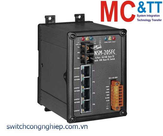 NSM-205FC CR: Bộ chuyển mạch công nghiệp 4 cổng Ethernet 1 cổng quang Multi mode SC ICP DAS