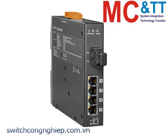 NSM-205PFC CR: Bộ chuyển mạch công nghiệp 4 cổng PoE (PSE)+1 cổng quang Multi mode SC ICP DAS