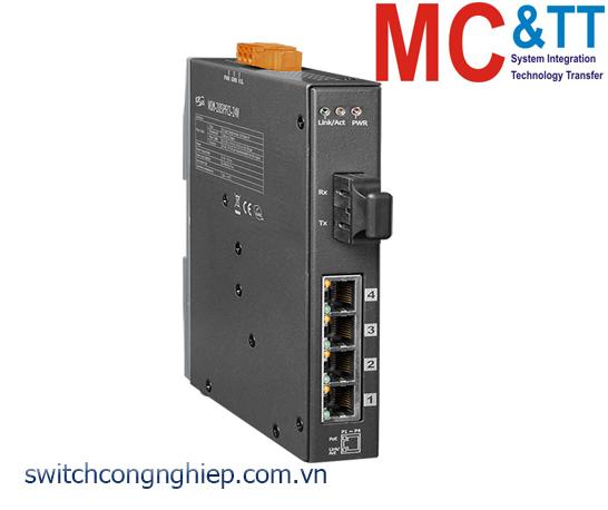 NSM-205PFCS-24V CR: Bộ chuyển mạch công nghiệp 4 cổng PoE (PSE)+1 cổng quang Single mode SC 30KM+24 VDC ICP DAS