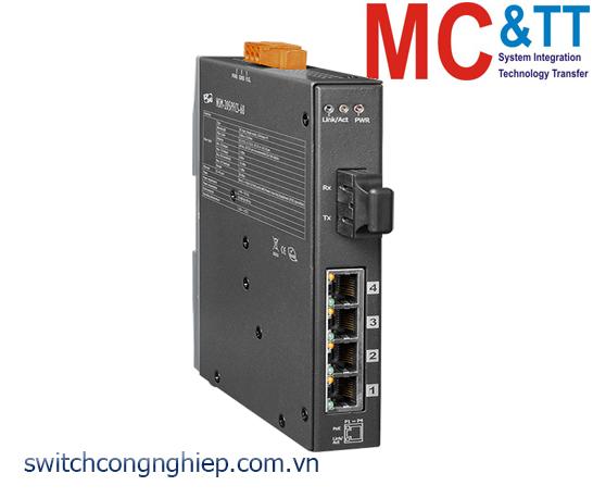 NSM-205PFCS-60 CR: Bộ chuyển mạch công nghiệp 4 cổng PoE (PSE)+1 cổng quang Single mode SC 60km ICP DAS