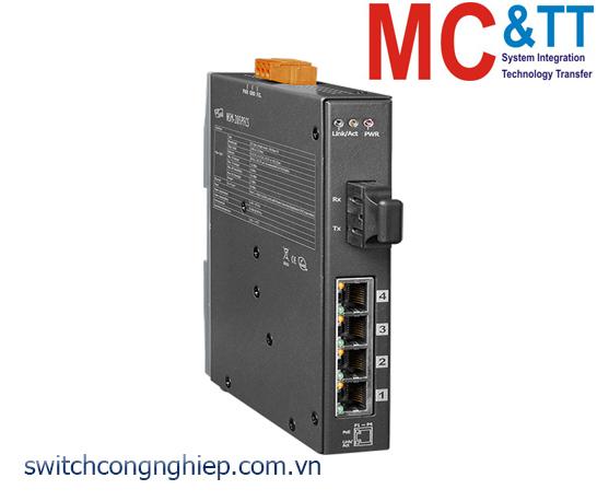 NSM-205PFCS CR: Bộ chuyển mạch công nghiệp 4 cổng PoE (PSE)+1 cổng quang Single mode SC 30km ICP DAS