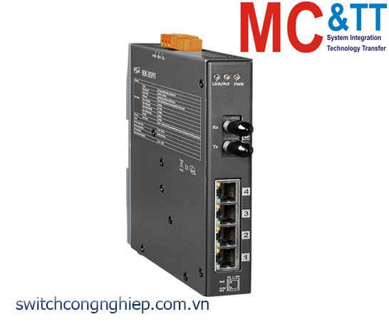 NSM-205PFT CR: Bộ chuyển mạch công nghiệp 4 cổng PoE (PSE)+1 cổng quang Multi mode ST ICP DAS