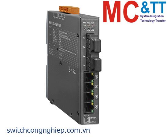 NSM-206AFCS-60T CR: Bộ chuyển mạch công nghiệp 4 cổng Ethernet 2 cổng quang Single mode SC 60km ICP DAS
