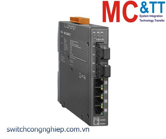 NSM-206AFCS-T CR: Bộ chuyển mạch công nghiệp 4 cổng Ethernet 2 cổng quang Single mode SC 30km ICP DAS