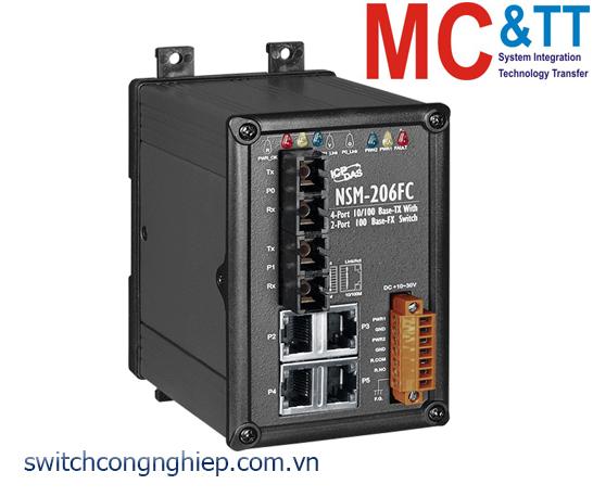 NSM-206FC CR: Bộ chuyển mạch công nghiệp 4 cổng Ethernet 2 cổng quang multi mode SC ICP DAS
