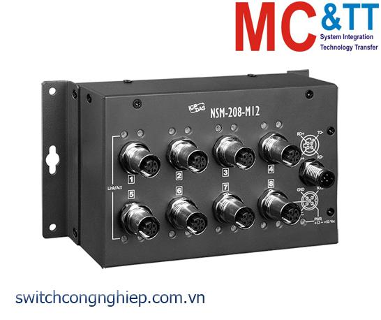 NSM-208-M12 CR: Bộ chuyển mạch công nghiệp 8 cổng Ethernet M12 EN50155 ICP DAS