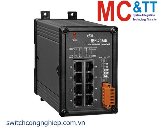 NSM-208AG CR: Bộ chuyển mạch công nghiệp 8 cổng Gigabit Ethernet ICP DAS