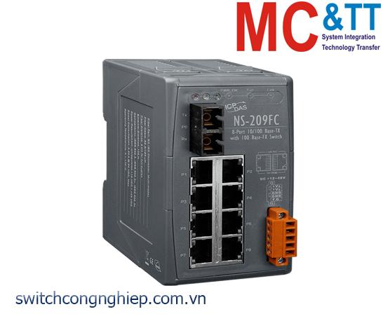 NSM-209FC CR: Bộ chuyển mạch công nghiệp 8 cổng Ethernet 1 cổng quang Multi mode SC ICP DAS