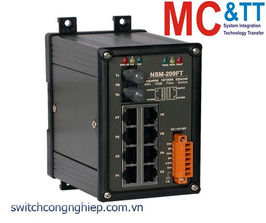 NSM-209FT CR: Bộ chuyển mạch công nghiệp 8 cổng Ethernet 1 cổng quang Multi mode ST ICP DAS