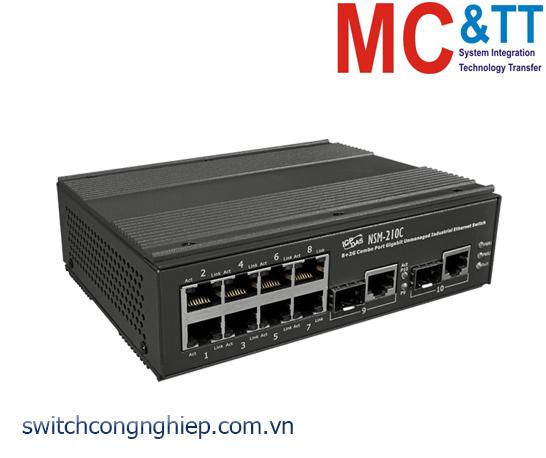 NSM-210C CR: Bộ chuyển mạch công nghiệp 8+2G Combo cổng Gigabit Ethernet  ICP DAS