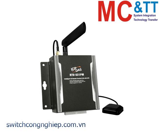 RTU-531PM: Modem 3G RTU tích hợp GPS + 4 DI + 2 DO + 2 AI + 2 Thermistor ICP DAS
