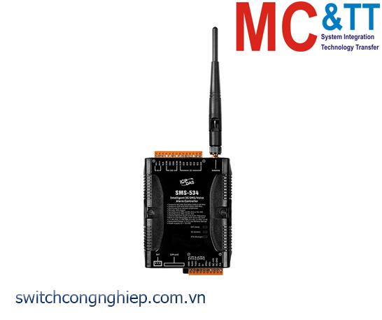 SMS-534: Bộ điều khiển cảnh báo Alarm SMS, Voice 3G ICP DAS